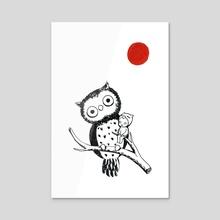Owl - Acrylic by Indré Bankauskaité