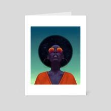 Afronaut - Art Card by Tristan Elwell