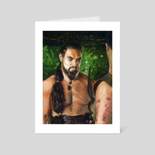 Khal Drogo Fanart - Art Card by Guy Gondron