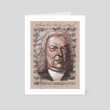 bach poster - Art Card by mamut  rojo