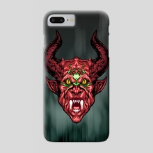 Demon Face - Red - Phone Case by Emanuele CALIFANO