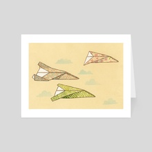 Paper Planes - Art Card by Liza Ferneyhough