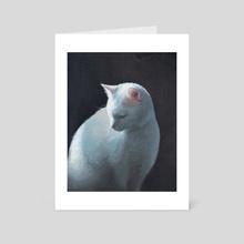 Sunlit Cat - Art Card by Sarah Smith