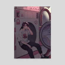 JUMBO Laundromat (night) - Canvas by 1O8K