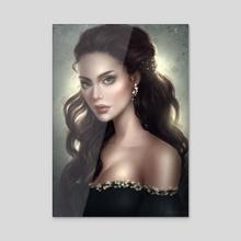 Lysandra - Acrylic by Alrun Art