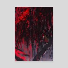 Foxfire -- Red Fox - Canvas by Carolyn Gan