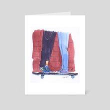 Skateboard Kissing - Art Card by Leah Marie