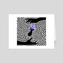 Trippy Mushroom Art - Art Card by Emii Emilova