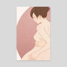 Women in hot spring steam 13 - Canvas by Sai Tamiya