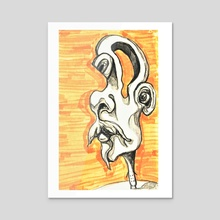 SURREAL ABSTRACT PORTRAIT PENCIL SKETCH FANTASY - Acrylic by NiColettarts