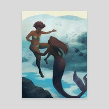 I fell in love with a mermaid - Canvas by Kirsten Halvorsen