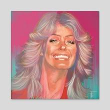 Farrah - Acrylic by Frankie Smith