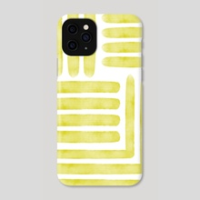 Lines yellow - Phone Case by hey Croft