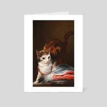 Cat and fish study - Art Card by Saren Hale