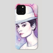 Audrey Hepburn Fashion Watercolor - Phone Case by Olga Shvartsur