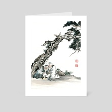 Chinese Figure - 2 - Art Card by River Han