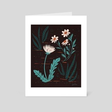 moody blooms - Art Card by Erin Wallace