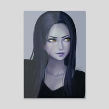 Widowmaker Portrait - Acrylic by KAI (umigraphics)