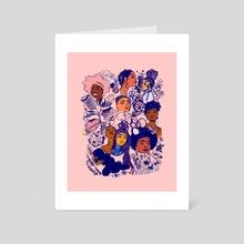#1 black girl hair - garden - Art Card by Gabi Zuniga
