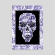 Purple Explosion Skull - Canvas by Andi GreyScale