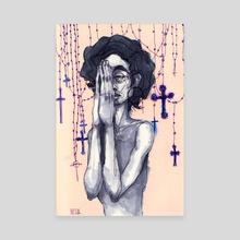 Reza, Mujer! - Canvas by Annelisa Hermosilla