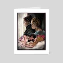 You came so close - Gentleman Jack Illustration  - Art Card by Marlaina  Mortati