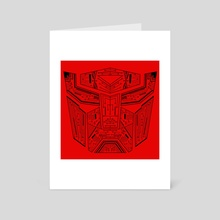 Autobot Tech Black and Red - Art Card by Genevieve Blais