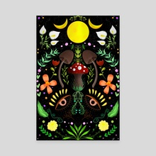 Magical Forest  - Canvas by Sara Di Lella