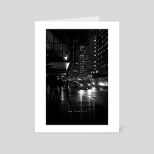 NYC Noir 005 - Art Card by Nikita Abakumov