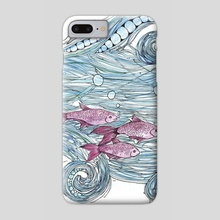 Shoal of Fish - Phone Case by Abigail Latham