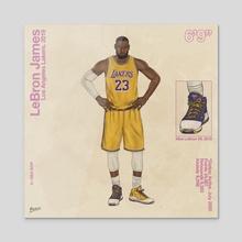 LeBron James - Acrylic by FULALEO