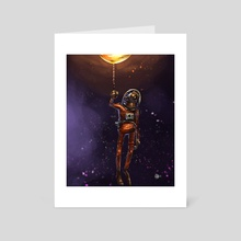 Chimp in Space - Art Card by Jack  Carrington