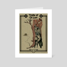 Trolls of Ot Lorr - Bait - Art Card by Peter Davey