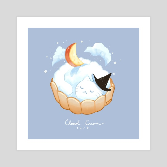 Cloud Cream Cat by Nadia Kim
