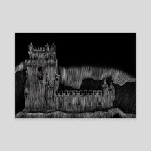 Belém Tower - Canvas by Andre Nussbaumer