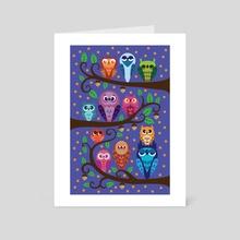 A Parliament of Owls - Art Card by Jennifer Smith