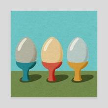 Eggs - Canvas by Alison Sale