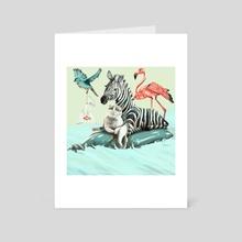 Protect Planet's life - Art Card by Anna Sledz