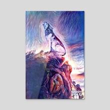 Eternity V (Wolf) - Acrylic by Bobby Kumar
