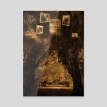 Hidden Woods - Acrylic by Drew Fiddy