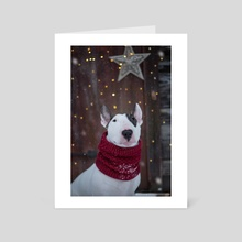 Tis the Bull Terrier season - Art Card by Kimberly AF