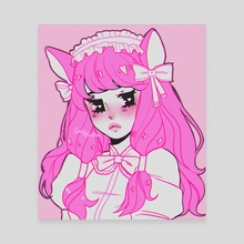 Pink Gothic Nya - Canvas by Rose Bun