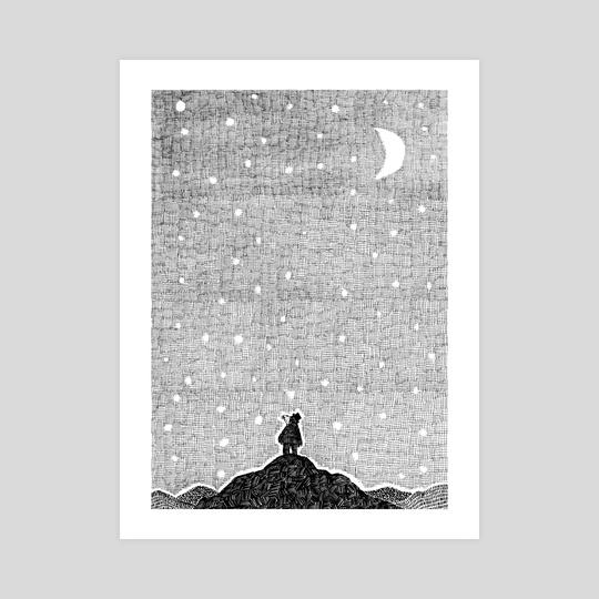 Malli and the sky by Elísabet Rún