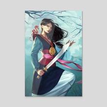 Fa Mulan - Acrylic by Mioree .