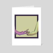 Human Contact - Art Card by Nightly Sketcher