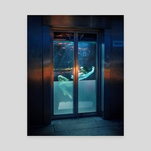 Underwater elevator - Canvas by Gabriel Avram
