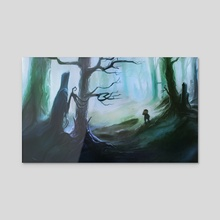 Unfortunate Forest - Acrylic by Phil Dragash