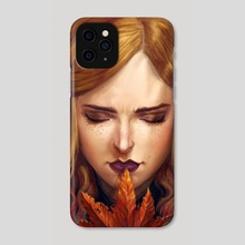 Autumn Girl - Phone Case by Naomi Robinson