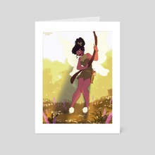 Tink - Art Card by coloured braids