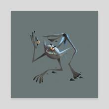 Gollum - Canvas by Nikolas Ilic